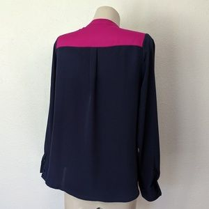 Collective Concepts Tops - Color block tie front top